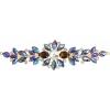 Crystal Motifs Floral 18cm Topaz Aurora Borealis/gold
